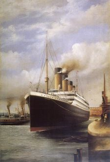 Titanic in dock