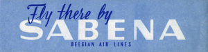 new items grenville collins collection/travel luggage label sabena belgian air lines