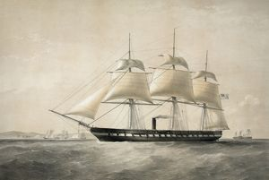 sailing ships/united states auxiliary screw steam frigate merrimac