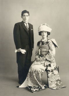 new items grenville collins collection/upper class japanese couple wedding photograph