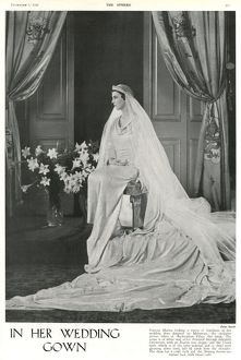 In Her Wedding Gown - Princess Marina of Greece