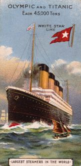 White Star Line Olympic and Titanic trade card