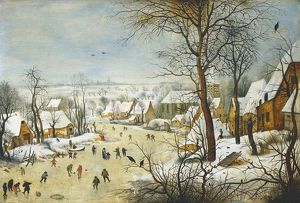 Winter Landscape with skaters. Pieter Brueghel II, The Younger