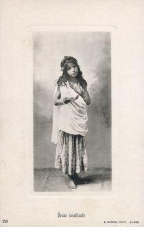 new items grenville collins collection/young beggar girl algeria