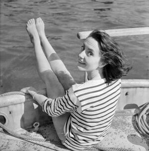 Young woman modelling on a boat