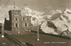 new items grenville collins collection/zermatt switzerland gornergrat railway station